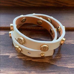 Tory Burch wrap bracelet - ivory patent